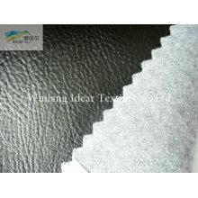 Тиснением черный PU кожа ткань/искусственная PU кожа ткань