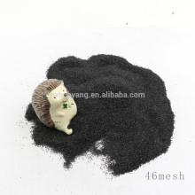 Utilisé pour le polissage de plancher noir corindon / alumine fusionnée noire au prix d'usine à vendre
