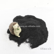 Used for floor polishing black corundum /black fused alumina at factory price for sale