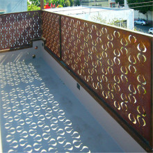 Decorative Laser Cut Steel Fence as Decoration