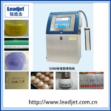 Leadjet 1-4 Lines Cij Batch Number Automatic Industrial Inkjet Printer
