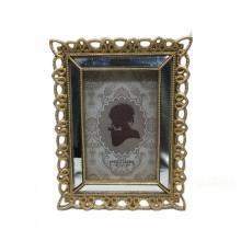 Modern Luxury Mirror Photo Frame Resin Gold Frame Mirror