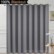 Cortina de proteção total cinza para porta do pátio