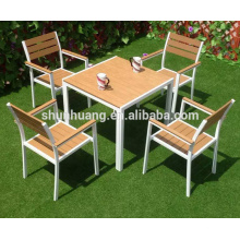outdoor patio furniture chairs and table plastic wood dining sets