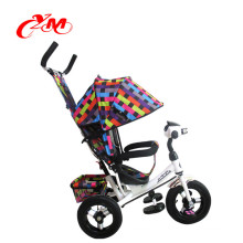 factory direct wholesale children tricycle for sale/cheap 3 wheels tricycle stroller bike/baby push tricycle with back seat