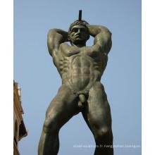 Grand jardin extérieur en métal artisanat nu statues de jardin pour hommes à vendre