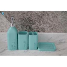 Fábrica al por mayor duradera plateada respetuosa del medio ambiente accesorios de baño resina baño conjunto