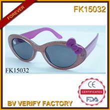 Duas cores costura Cartoon gato óculos de sol para crianças (FK15032)