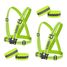 Wholesale 2pcs Pack High Visibility Reflective Bands Safety Vest for Cycling