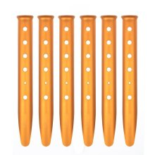U Shape Big Orange Camping Sand Tent Stakes