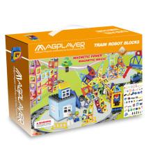 Atacado DIY 258 PCS carro ferroviário conjunto magnético brinquedos educativos para crianças