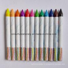 Crayon de couleur sans papier de 12 PCS
