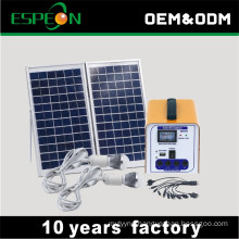 mini off grid 10W 7AH 12V DC solar home lighting system