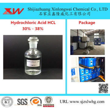 HCL Muriatic Acid 30٪ to 38٪ Food Grade