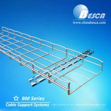 bandeja de cable de malla de alambre rejilla (UL.cUL.CE.ISO.)