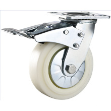 5 Inch Heavy Duty Swivel with Top Brake Nylon Industrial Caster Trolley Caster