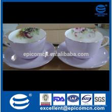 Ossos finos China chá chá chá prato conjunto