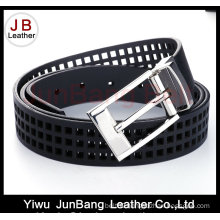 Fashion Woman Punching Hole PU Belt with Reversible Buckle