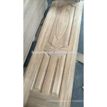Pele de porta principal escultura em madeira