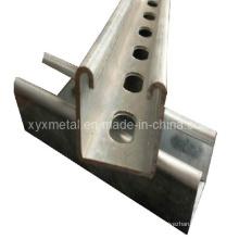 Construção em forma de U ou em forma de metal galvanizado Unistrut