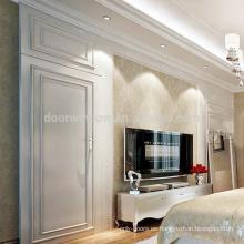 Puertas invisibles de madera de diseño moderno de calidad superior de superficie acabada