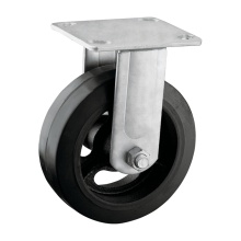 Plate Fitting Rubber Caster Wheel
