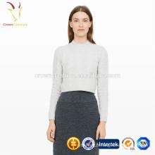 Senhoras de malha de luxo cashmere camisola mulheres personalizadas 2017