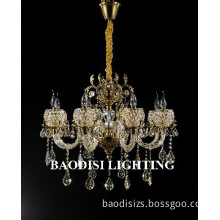 Glass & Zinc Alloy Lampbody Crystal Chandelier lamps