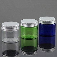 Hot Sale 50g Pet Plastic Jar with Aluminum Screw Cap for Cosmetic Cream Packaging