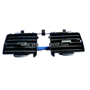 Injection molding for automotive air vent