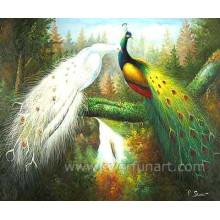 Pintura pintada mão do pavão do animal