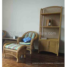 Outdoor Furniture Cabinet Cupboard Aluminum Rattan Bookrack Bookshelf