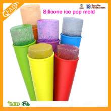 Fabricante durável higiênico do lolly de gelo do silicone com molde