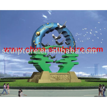 stainless steel abstract art sculpture for garden