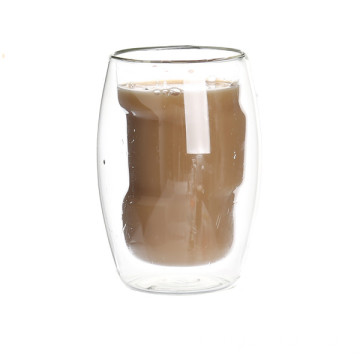 Popular Design for Double Wall Glass Coffee Cup 2016 New Coffee Glass Cup export to Vanuatu Suppliers