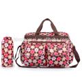 2016new design saco de fraldas à prova d 'água bebê de alta capacidade Listras Floral saco de fraldas multifuncional mochila saco de fraldas para Grávidas