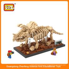 3D bloco mini figura plástico cubo blocos de construção tijolo educativa dinossauro brinquedo