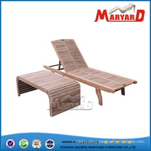 Teak Sun Lounger with Side Table