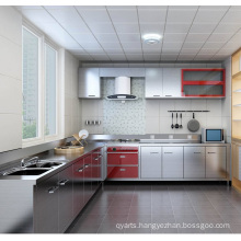 L Shaped Stainless Steel Kitchen Cabinet