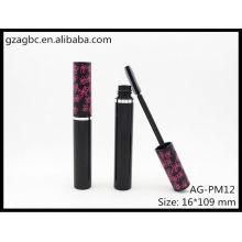 Charmante & leeren Kunststoff Runde Mascara Rohr AG-PM12, AGPM Kosmetikverpackungen, benutzerdefinierte Farben/Logo