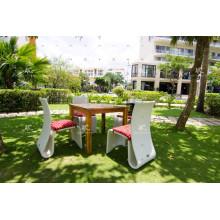 UV-beständiges Rattan-Esszimmer-Set für Garten