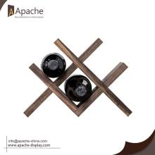Popular Design for China Wine Displays,Wine Display Stand,Beer Display Holder,Wine Display Rack Supplier Wooden Counter Wine Rack for Storage supply to Mongolia Exporter