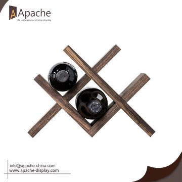 Wooden Counter Wine Rack for Storage