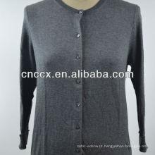 Camisola barata do casaco de lã da luva longa das senhoras 12STC0510