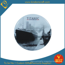 Titanic Printed Logo Tin Button Badge in Low Price
