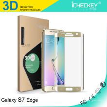2016 neu! Ultra klarer 0.26mm 9H Handy / Handy gehärtetes Glas-Displayschutz für Samsung Galaxy S7 Kantenschutz
