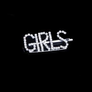 """Grampos de cabelo com letra de cristal """"GILRS"""""""
