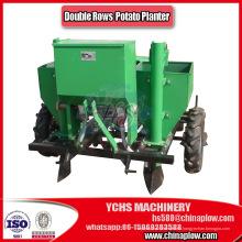 Tractor montado doble fila plantador de patata dulce con neumáticos de goma