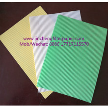 Corrugated filter paper