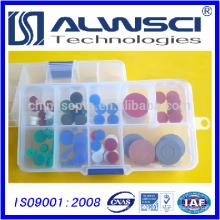 11mm Silicona pre-perforar Bajo-Bleed Alta Temperatura GC Septa